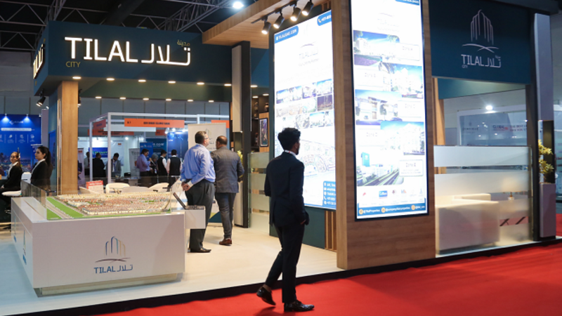 Tilal stand at the Dubai Property Show in Mumbai, India
