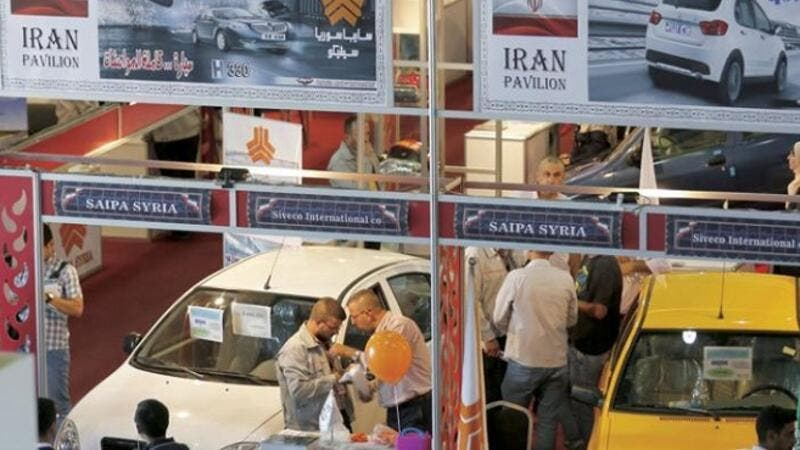 Visitors at Russian companies' pavilions at the Damascus International Fair. (AFP)