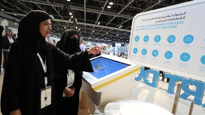 Smart Dubai showcased its blockchain strategy and AI service, Rashid, at the GITEX Technology Week 2017.