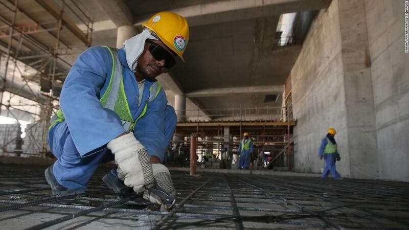 The International Trade Union Confederation estimated that 4,000 migrant laborers are expected to die working on Qatar World Cup development. (AFP/File)