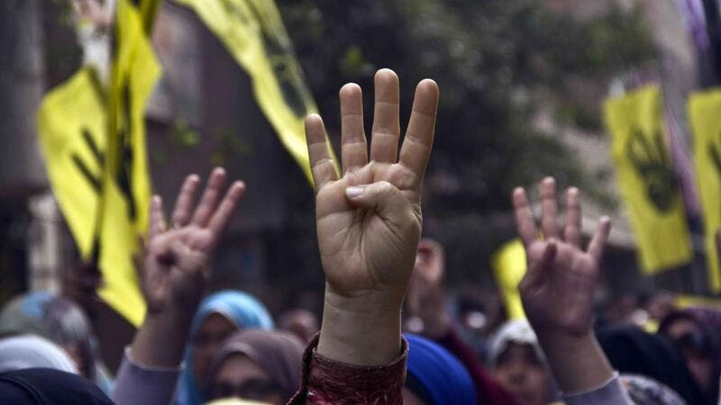 Activists gathered to protest the ouster of Islamist President Mohammed Morsi