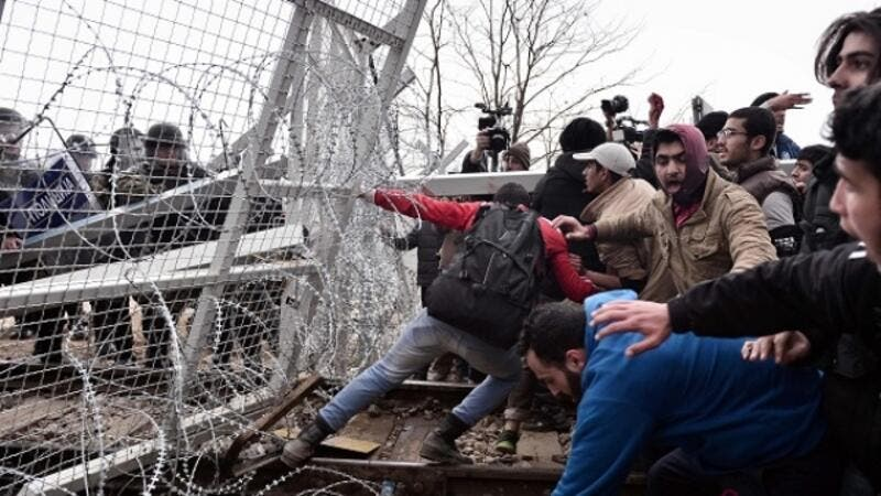 The build-up of refugees at Greece-Macedonia border has been described as a humanitarian disaster. (AFP/File)