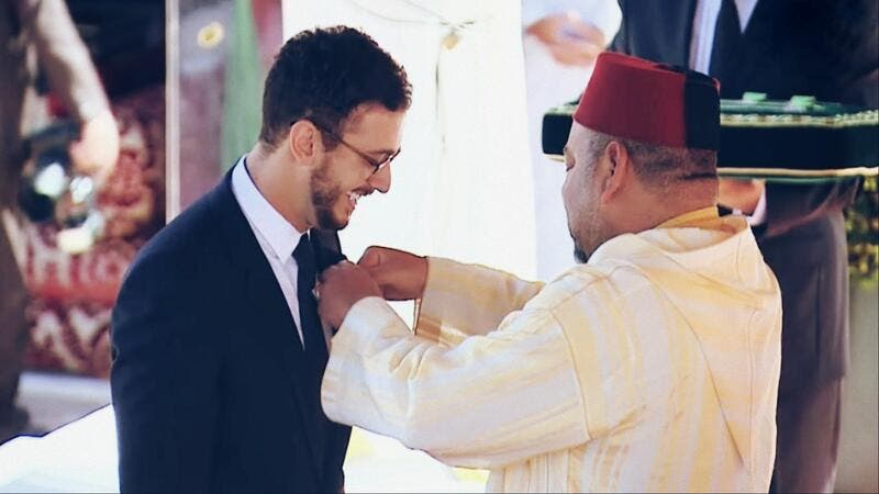 Saad being honored by King Mohammed VI of Morocco. (Facebook)