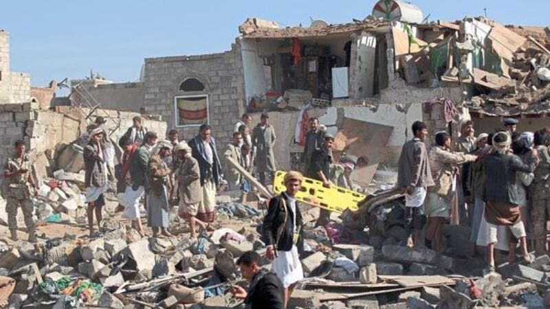 Saudi Arabia and its partners have carried out some 2,300 airstrikes on Houthi targets across Yemen since launching the air campaign more than three weeks ago. (AFP/File)
