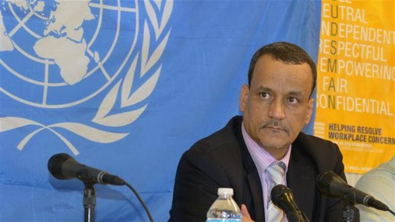 UN special envoy Ismail Ould Cheikh Ahmed arrived in Yemen yesterday. (AFP/File)