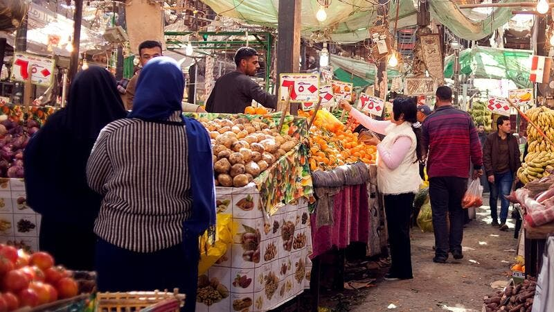 Egypt continues to report massive increases in the prices of fruits and vegetables.