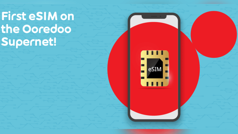 Existing Ooredoo customers can visit any Ooredoo store and switch to an eSIM at no additional cost.