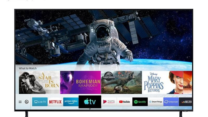 Beginning today, the new Apple TV app and AirPlay 2 are available on all 2019 Samsung Smart TVs and select 2018 models.