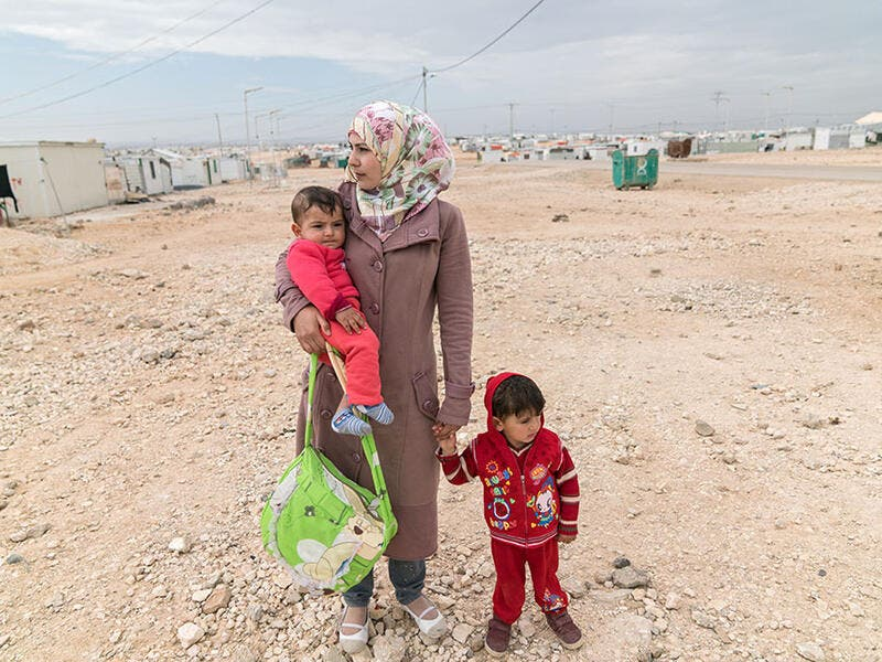 The number of refugees reached 25.9 million around the world in 2018. (Photo: UN Women/Christopher Herwig)