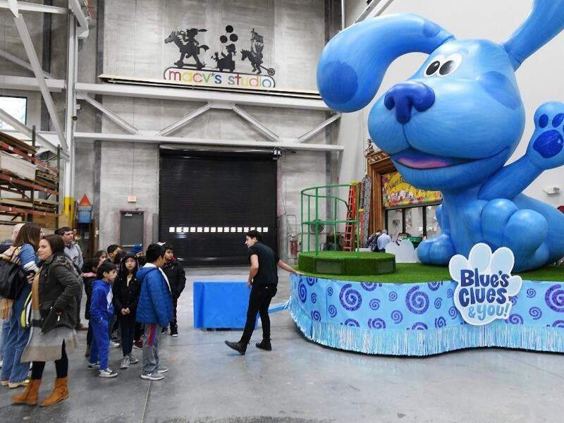 View of Blue's Clues and You! by Nickelodeon as local elementary school students get a first look at the new fleet of floats joining the 93rd annual Macy's Thanksgiving Day Parade® on November 19, 2019 in Moonachie City. Eugene Gologursky/Getty Images For Macy's Inc/AFP