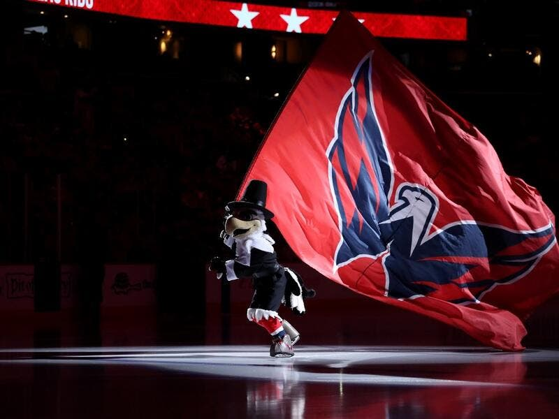 Dressed as a turkey for the Thanksgiving holiday, the Washington Capitals mascot skates on the ice before the start of the Capitals game against the Florida Panthers at Capital One Arena on November 27, 2019 in Washington, DC. Rob Carr/Getty Images/AFP