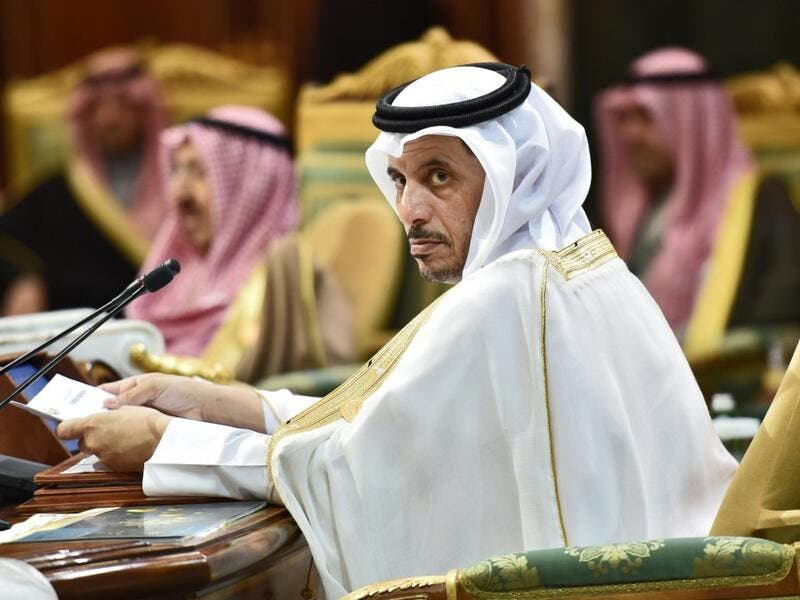 Abdullah bin Nasser bin Khalifa al-Thani, Qatar's Prime Minister, attends a session of the 40th Gulf Cooperation Council (GCC) summit held at the Saudi capital Riyadh on December 10, 2019. Fayez Nureldine / AFP