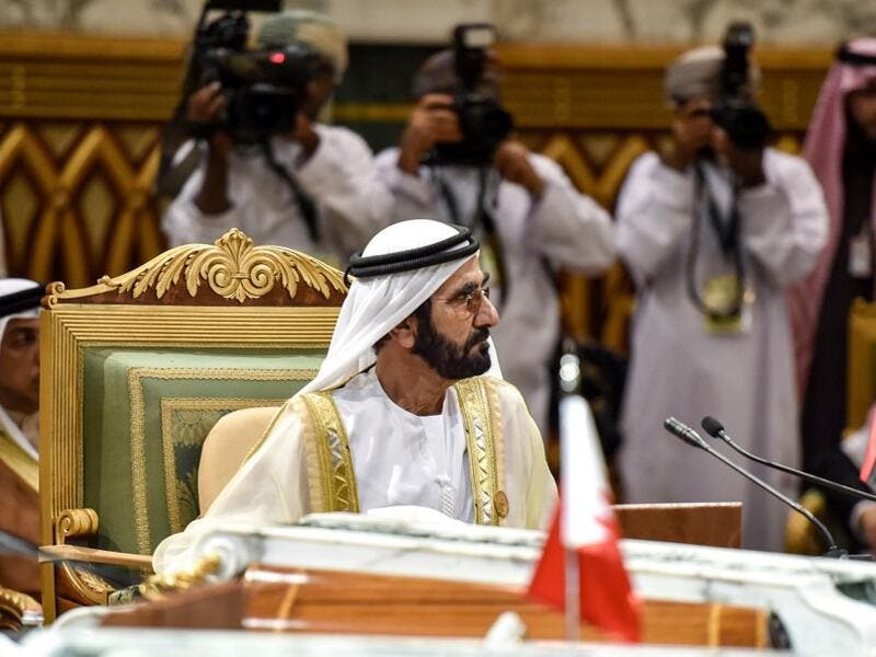 Mohammed bin Rashid Al-Maktoum, Vice President and Prime Minister of the United Arab Emirates, and ruler of the Emirate of Dubai, attends a session of the 40th Gulf Cooperation Council (GCC) summit held at the Saudi capital Riyadh on December 10, 2019. Fayez Nureldine / AFP
