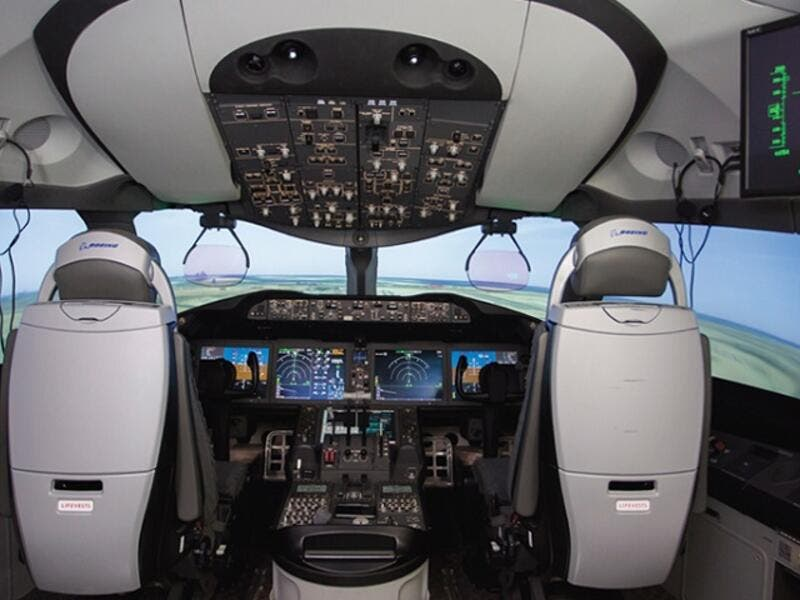 Etihad Aviation Training has 11 full motion training simulators, including five for Boeing 777 and 787 training