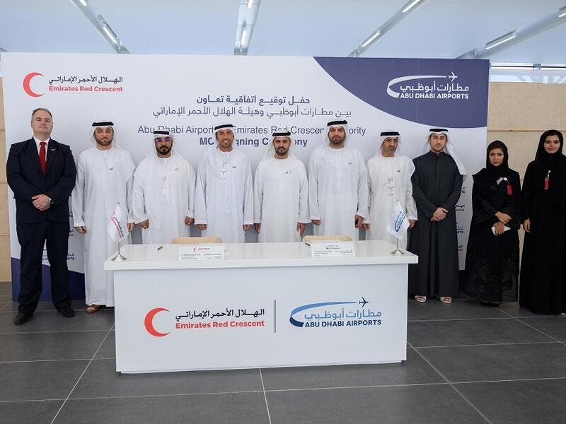 Abu Dhabi Airports and the Emirates Red Crescent Authority Sign New Agreement to Cooperate in Charitable and Humanitarian Initiatives
