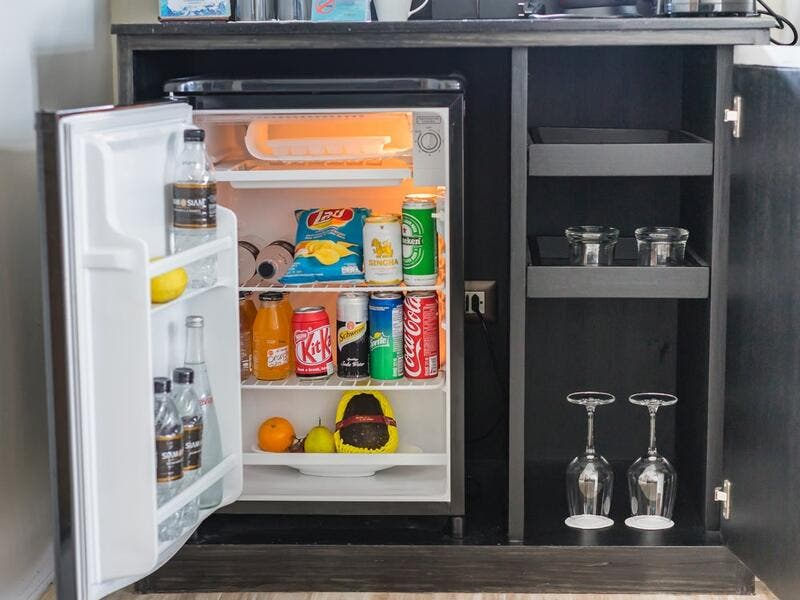 5. In-room coffee machines and minibars