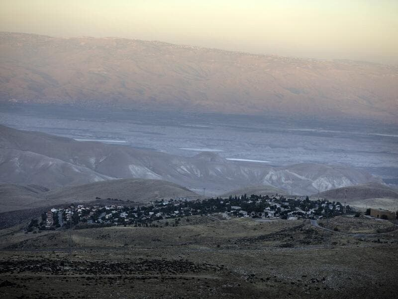 A picture shows the Israeli Ma'ale Efrayim settlement on June 22, 2020 in the Judean desert in the occupied West Bank. The government of Israeli Prime Minister Benjamin Netanyahu has said it could begin the process to annex Jewish settlements in the West Bank as well as the strategic Jordan Valley from July 1. The plan -- endorsed by Washington -- would see the creation of a Palestinian state, but on reduced territory, and without Palestinians' core demand of a capital in east Jerusalem. MENAHEM KAHANA / AF