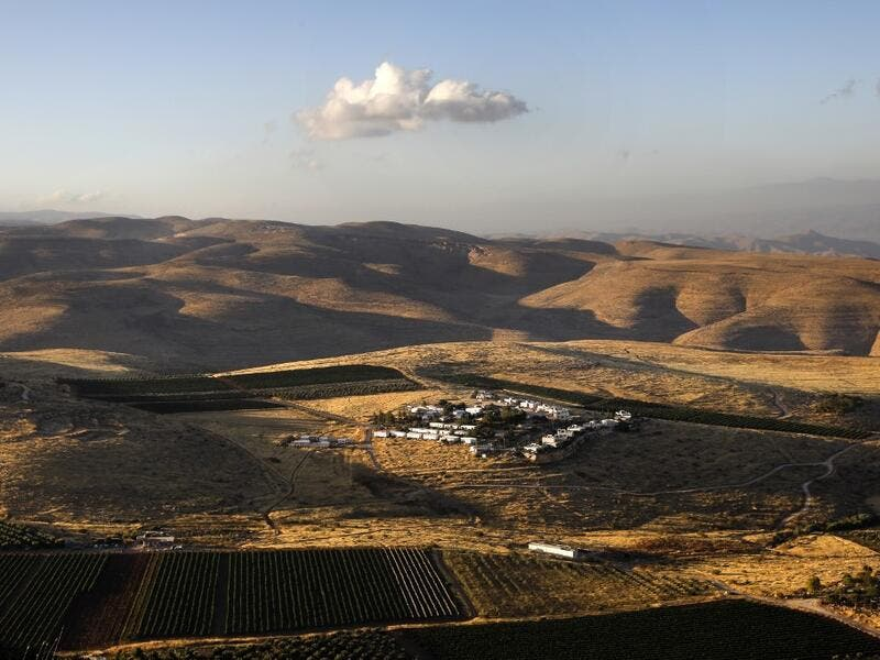 A picture shows the Israeli settlement of Mitzpe Kramim, on June 18, 2020 in the occupied West Bank. The government of Israeli Prime Minister Benjamin Netanyahu has said it could begin the process to annex Jewish settlements in the West Bank as well as the strategic Jordan Valley from July 1. The plan -- endorsed by Washington -- would see the creation of a Palestinian state, but on reduced territory, and without Palestinians' core demand of a capital in east Jerusalem. MENAHEM KAHANA / AFP