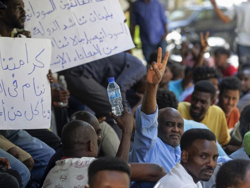 More than 1,000 Sudanese have registered at the embassy hoping to be repatriated, out of at least 4,000 living in Lebanon, according to Abdallah Malek from the Association of Young Sudanese in Lebanon. JOSEPH EID / AFP