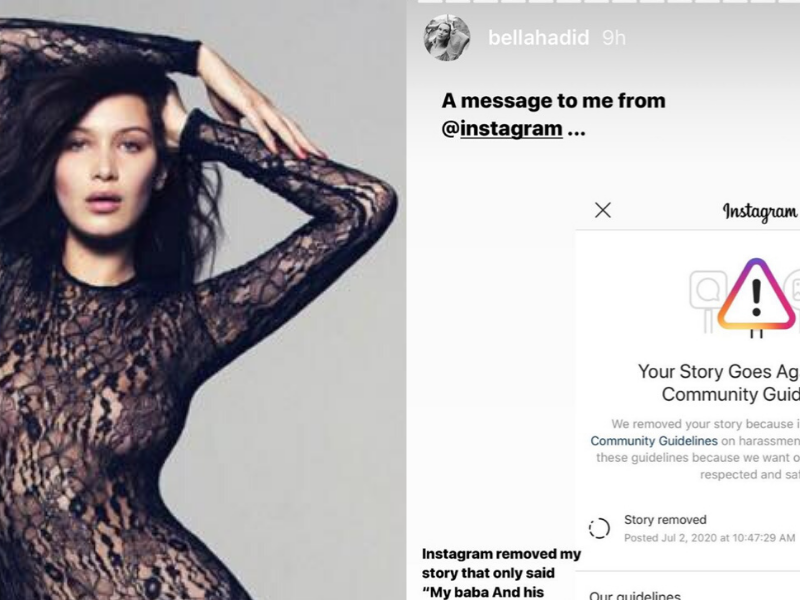 Why Did Instagram Remove Bella Hadid's Story on Her Father's Heritage?