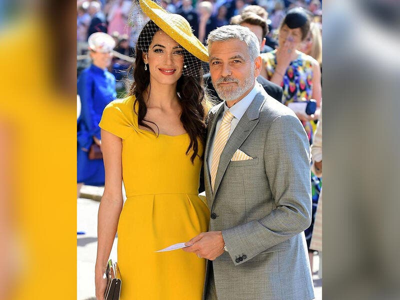 Amal and George Clooney have donated $100,000 to Beirut-based charities.