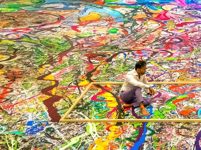 Artist Sacha Jafri aims to raise US$30 mln with giant canvas. (Instagram)