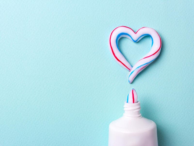9. The colored strips in toothpastes