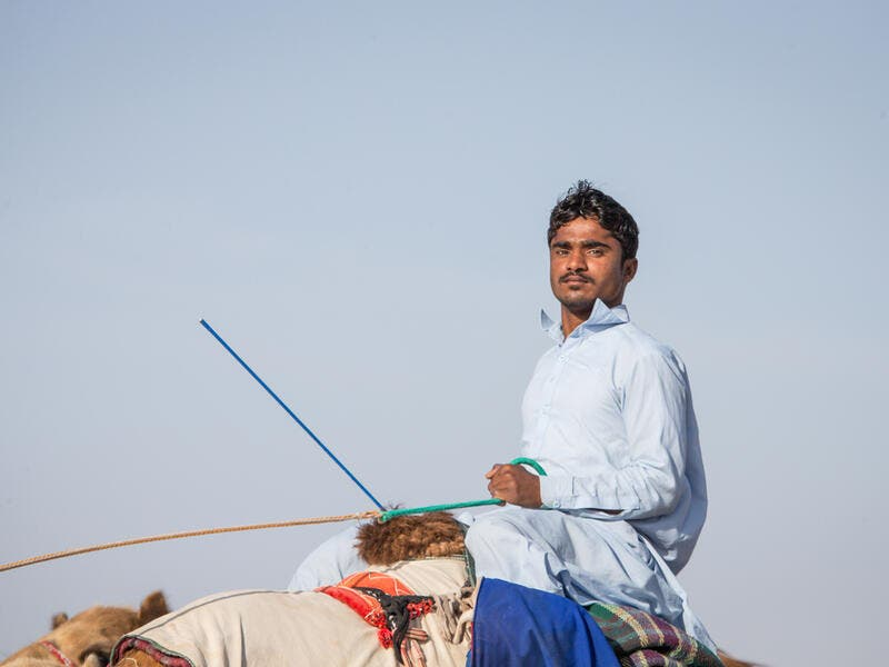 Man riding a camel (Shutterstock/File Photo)