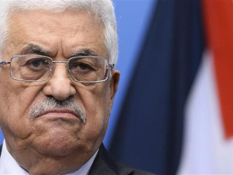 Palestinian President Mahmoud Abbas in a somber mood. (AFP/File Photo)