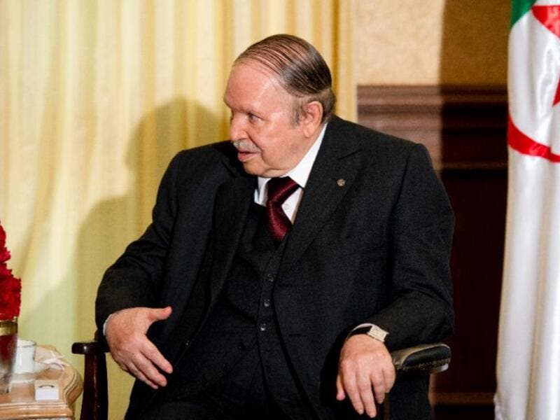 Algerian President Abdelaziz Bouteflika meeting with the French prime minister at his residence during an official visit. (AFP/ File)
