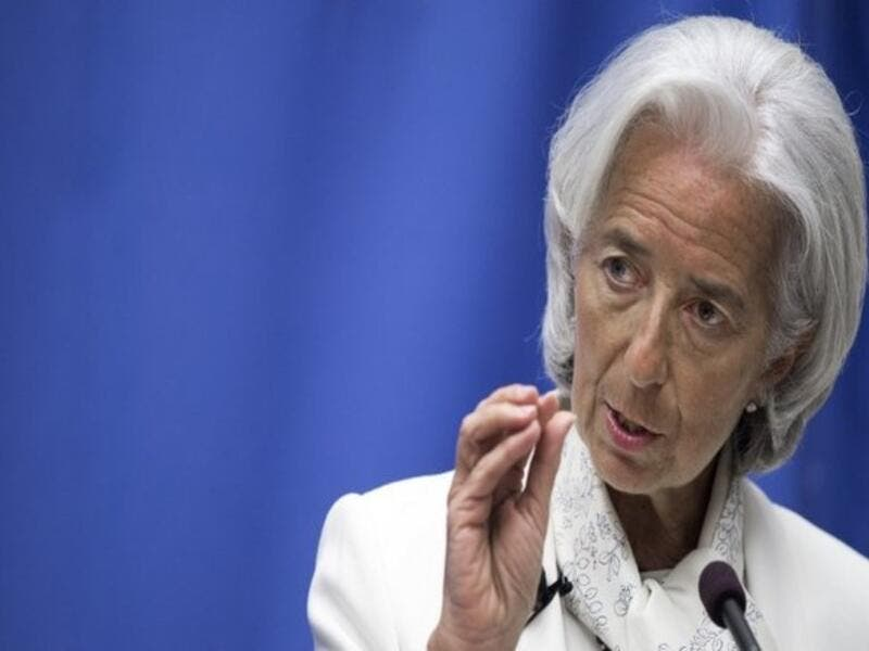 "Lagarde explained that there is ""still a little bit of implementation"" to be completed before the IMF board can meet with regards to both exchange rate and to subsidies. (AFP/File)"