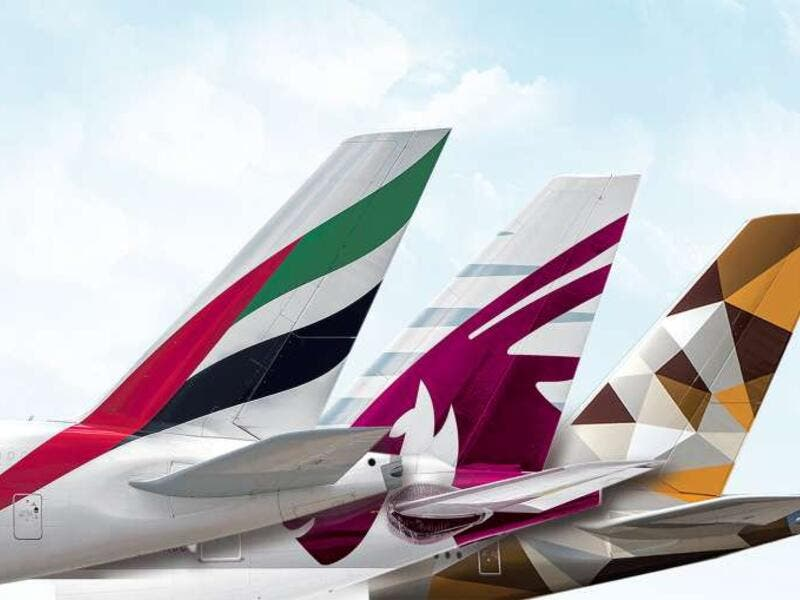 Emirates scored the highest in terms of the quality of inflight entertainment, while Qatar Airways' business class cabin was voted the world's best. (File photo)