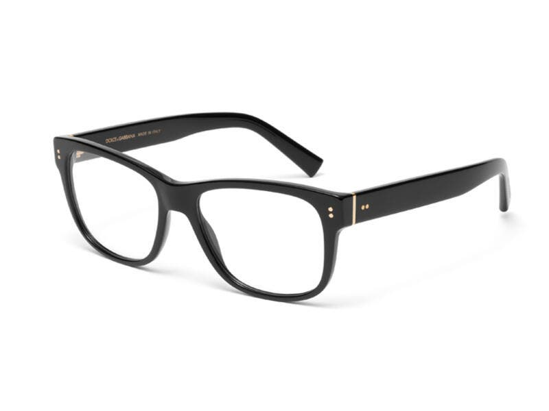 With its square design and thick temples, the Domenico model is a Dolce&Gabbana classic. In the optical model it comes in two refined shades, blue and grey streaked havana, and in the classic black and havana colours.