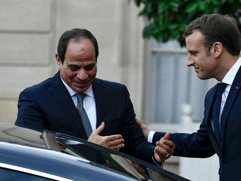 Egypt President Sisi meets with France Macron (Twitter)