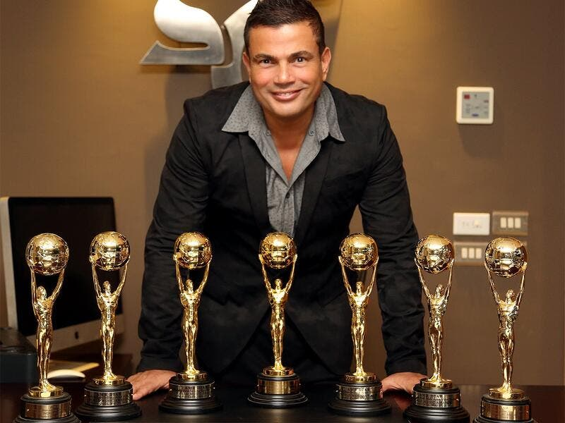 Amr Diab and his record-breaking seven World Music Awards (Wikimedia Commons)