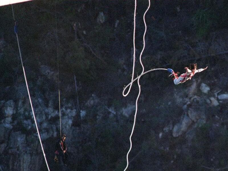 Bungee Jump From The Highest Jump In India: In a small village called Mohan Chatti sits India's best bungee jump provider: Jumpin Heights. The biggest thrill is a fixed platform jump from 272 feet above the ground. (AFP/ File Photo)