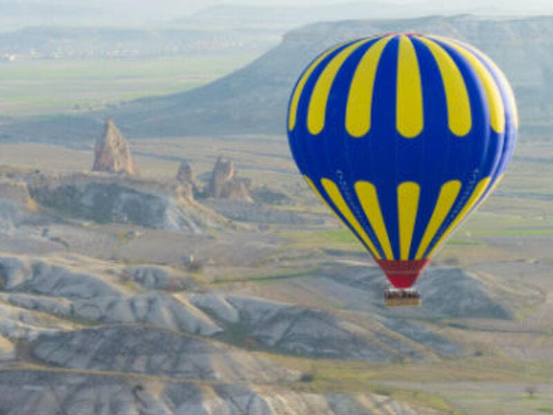 Hot air ballooning: A hot air balloon is a lighter-than-air aircraft consisting of a bag, called an envelope, which contains heated air,You just can enjoy amazing views riding it. (AFP/ File Photo)