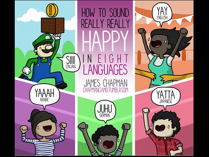 How to sound really happy in Arabic
