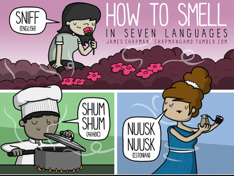 How to sniff in Arabic
