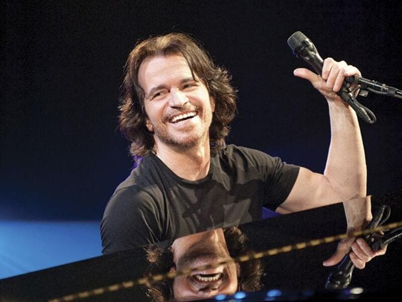 The 61-year-old played at Amman's historic Citadel last week. (Yanni.com)