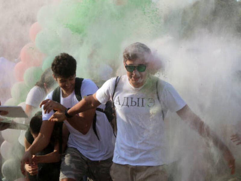 Jordan Plays Host To Color Festival. (gettyimages.co.uk)