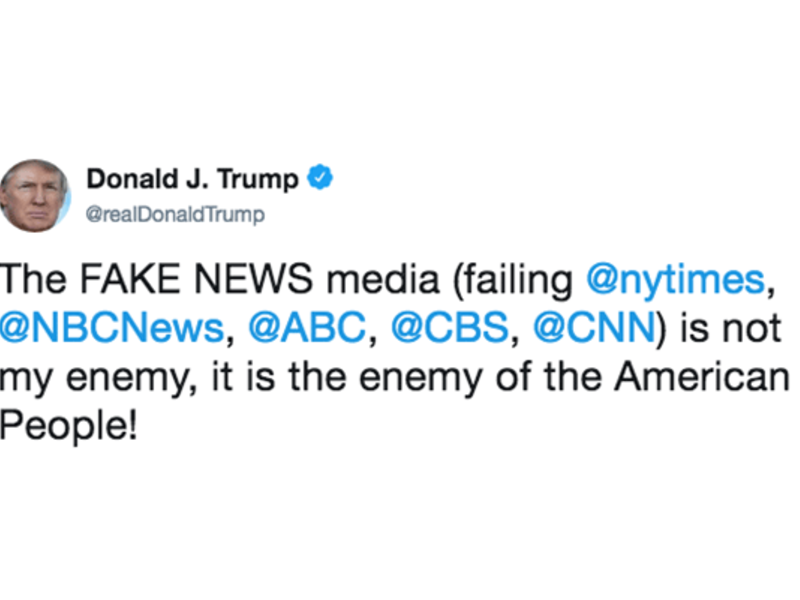 Trump tweeted earlier in February 2018.