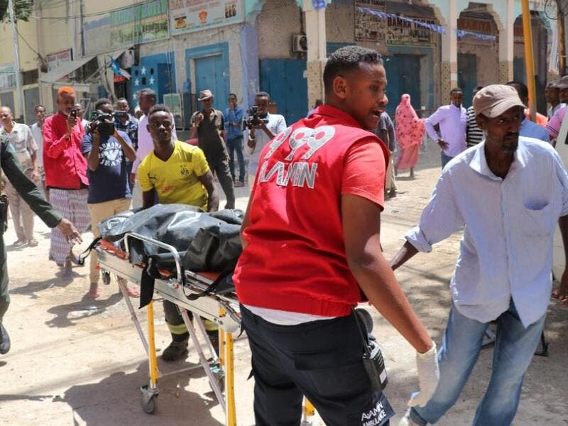 car bombing against a shopping mall in the Somali capital kills 10. (Twitter)