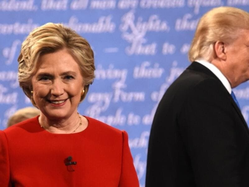 Hillary Clinton and Donald Trump sparred over job creation, trade, extremism and policing. (AFP/File)