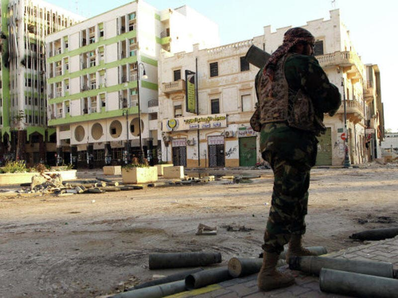 A Libyan soldier, loyal to Libya's internationally recognised government of Abdullah al-Thani. (APF/Abdullah Doma)