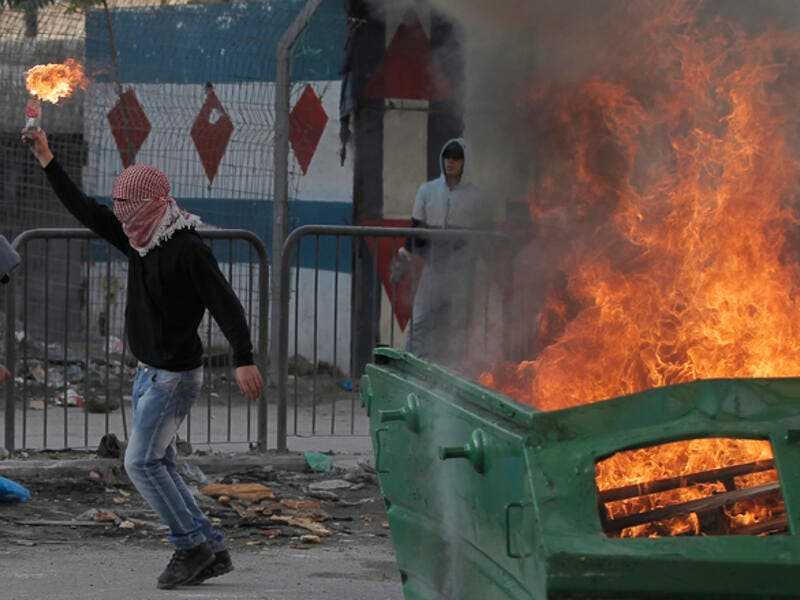 Molotov cocktail during clashes with Israeli security forces (AFP/File Photo)