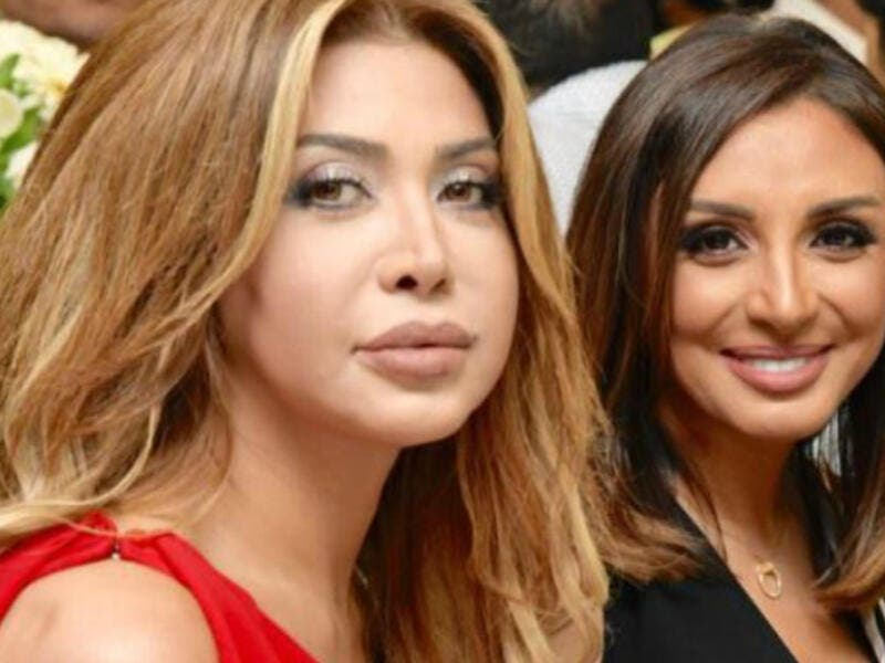 The Golden Star Nawal Al Zoghbi and Angham sat next to each other
