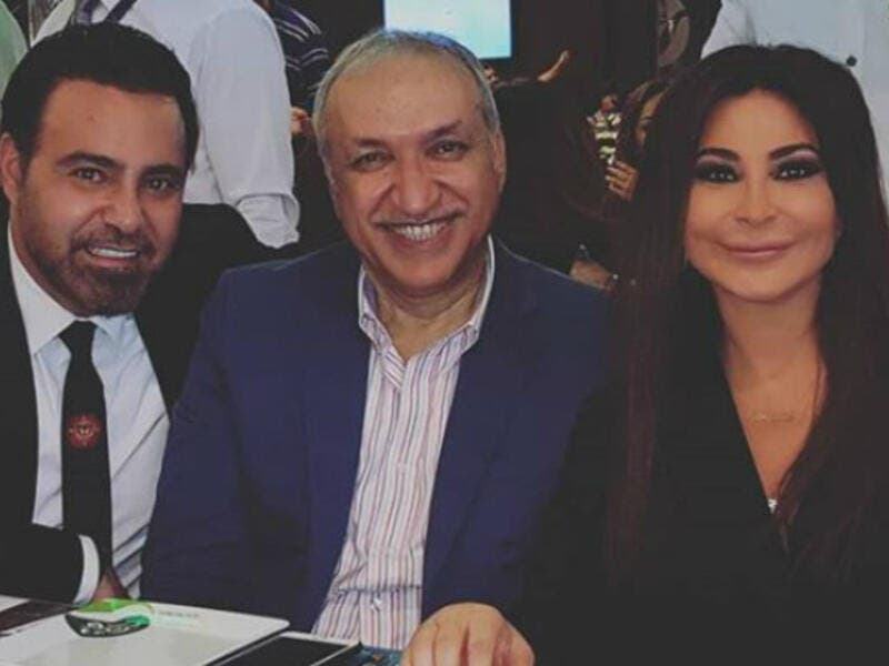 "Elissa also posted a picture of Assi Alhallani and Salem Al Hindi to her Instagram account captioning it ""My"