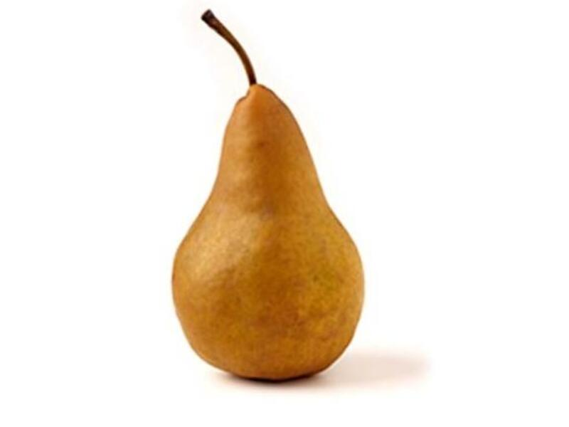 Pears —  The fruity Sheikh would deem these safe for a woman's touch. Probably just about OK, if skirting on the cylindrical. 