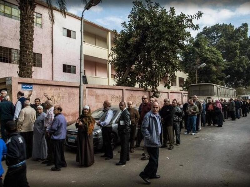 referendum polls- the vote begins for Egypt's constitution